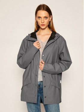 Rains Rains Giacca impermeabile Unisex 1201 Grigio Regular Fit