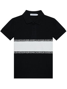 Calvin Klein Jeans Calvin Klein Jeans Polo Logo Colour Block IB0IB00734 Czarny Regular Fit