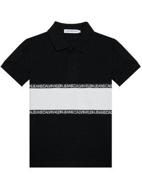 Calvin Klein Jeans Calvin Klein Jeans Тениска с яка и копчета Logo Colour Block IB0IB00734 Черен Regular Fit