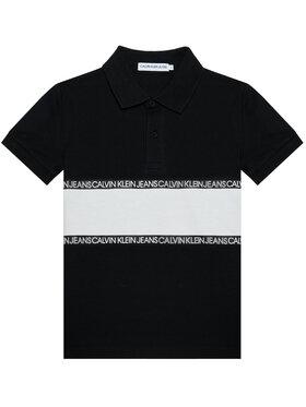 Calvin Klein Jeans Calvin Klein Jeans Tricou polo Logo Colour Block IB0IB00734 Negru Regular Fit