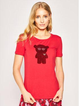 Emporio Armani Emporio Armani T-Shirt 3H2T6Q 2JQAZ 0334 Czerwony Regular Fit