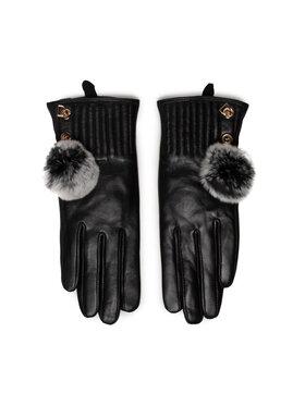 Liu Jo Liu Jo Dámské rukavice Guanto Pelle Con Po 3F1075 P0300 Černá
