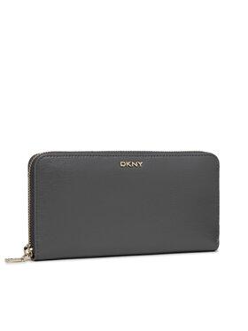 DKNY DKNY Velká dámská peněženka Bryant-New Zip Around R8313658 Šedá