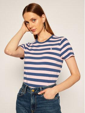 Polo Ralph Lauren Polo Ralph Lauren T-Shirt Ssl Knt 211801465001 Różowy Regular Fit
