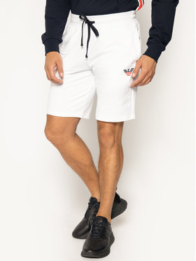 Emporio Armani Emporio Armani Bavlnené šortky 111004 0P571 00010 Biela Regular Fit