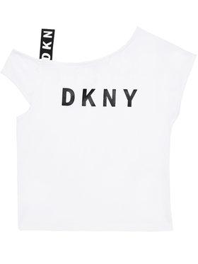 DKNY DKNY Bluză D35R44 D Alb Regular Fit