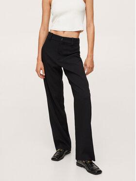 Mango Mango Spodnie materiałowe Larios 17065925 Czarny Regular Fit