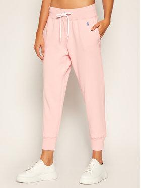 Polo Ralph Lauren Polo Ralph Lauren Teplákové kalhoty Akl 211794397005 Růžová Regular Fit