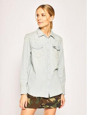 Wrangler Wrangler camicia di jeans Rhapsody W5WSLW13I Blu Regular Fit