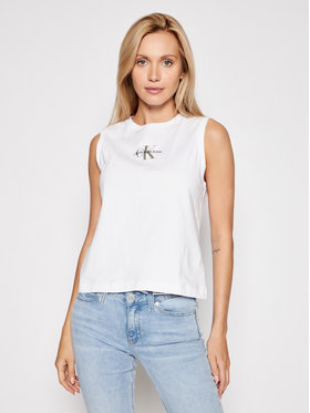 Calvin Klein Jeans Calvin Klein Jeans Блуза J20J216578 Бял Regular Fit