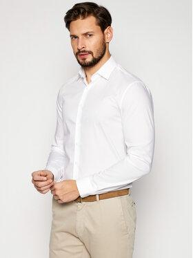 Calvin Klein Calvin Klein Koszula Poplin Stretch K10K106040 Biały Slim Fit