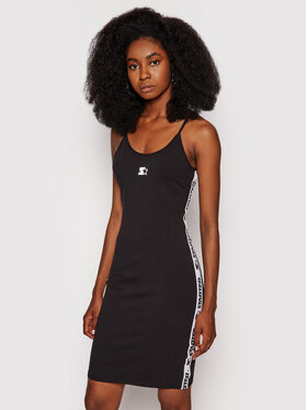 Starter Starter Повсякденна сукня SDG-012-BD Чорний Slim Fit