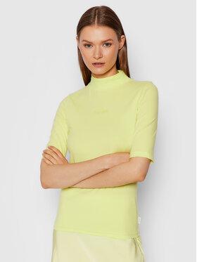 Calvin Klein Calvin Klein Bluzka Mock K20K203114 Żółty Slim Fit