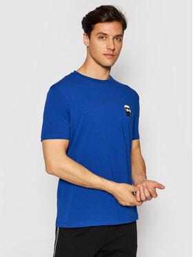 KARL LAGERFELD KARL LAGERFELD T-shirt Crewneck 755025 511221 Plava Regular Fit