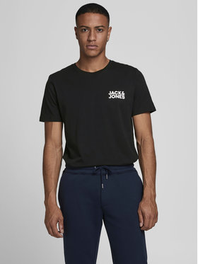 Jack&Jones Jack&Jones Marškinėliai Corp Logo 12151955 Juoda Slim Fit