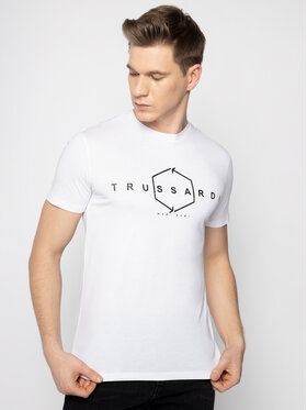 Trussardi Trussardi Marškinėliai 52T00315 Balta Regular Fit