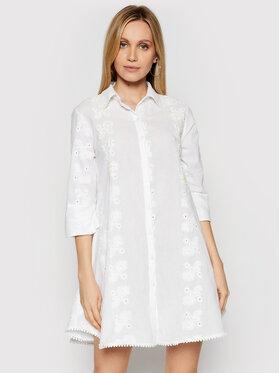 Iconique Iconique Sukienka koszulowa Romina IC21 002 Biały Regular Fit