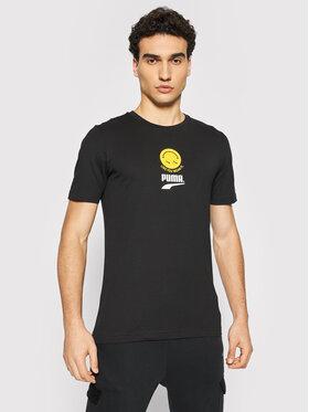 Puma Puma T-Shirt Club Graphic 598793 Czarny Regular Fit