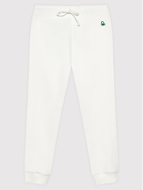 United Colors Of Benetton United Colors Of Benetton Долнище анцуг 3J68I0017 Бял Regular Fit