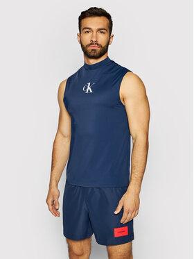 Calvin Klein Swimwear Calvin Klein Swimwear Tank top Muscle KM0KM00612 Granatowy Slim Fit