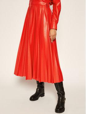 MSGM MSGM Kožená sukně 2941MDD29P 207652 Červená Regular Fit