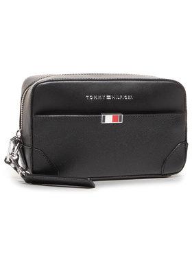 TOMMY HILFIGER TOMMY HILFIGER Kosmetický kufřík Business Leather Washbag AM0AM06513 Černá