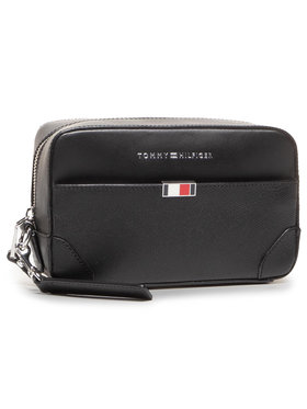 Tommy Hilfiger Tommy Hilfiger Kozmetická taštička Business Leather Washbag AM0AM06513 Čierna