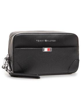 Tommy Hilfiger Tommy Hilfiger Pochette per cosmetici Business Leather Washbag AM0AM06513 Nero