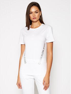 Calvin Klein Jeans Calvin Klein Jeans Тишърт J20J214779 Бял Regular Fit