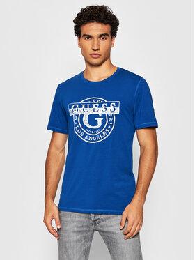 Guess Guess T-Shirt M1BI35 J1311 Modrá Slim Fit