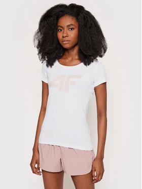 4F 4F T-Shirt NOSH4-TSD005 Biały Regular Fit