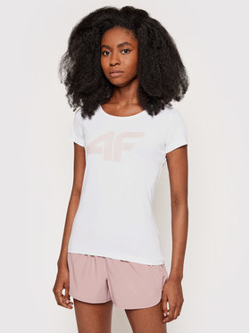 4F 4F T-shirt NOSH4-TSD005 Bianco Regular Fit