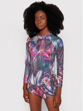 Waikane Vibe Waikane Vibe Bluzka Floral Kolorowy Regular Fit
