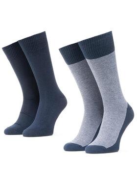 Levi's® Levi's® Sada 2 párů vysokých ponožek unisex 37157-0212 Tmavomodrá