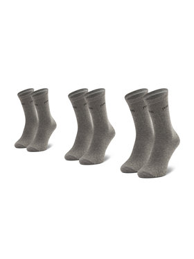 Pepe Jeans Pepe Jeans Комплект 3 чифта дълги чорапи дамски Jane PLU10008 Сив