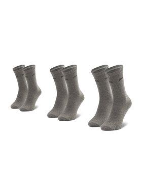 Pepe Jeans Pepe Jeans Sada 3 párů dámských vysokých ponožek Jane PLU10008 Šedá
