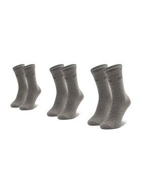 Pepe Jeans Pepe Jeans Set di 3 paia di calzini lunghi da donna Jane PLU10008 Grigio