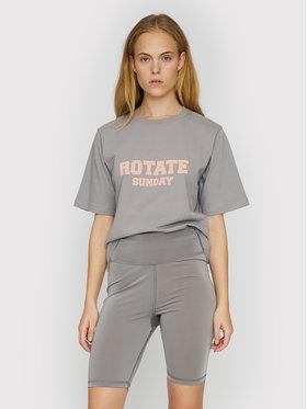 ROTATE ROTATE Marškinėliai Aster RT456 Pilka Loose Fit
