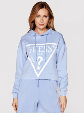 Guess Guess Bluză O1GA29 KAMN2 Albastru Regular Fit