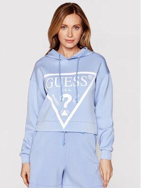 Guess Guess Bluza O1GA29 KAMN2 Niebieski Regular Fit