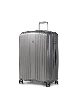 Dielle Dielle Nagy kemény borítású bőrönd 120/70 Ezüst