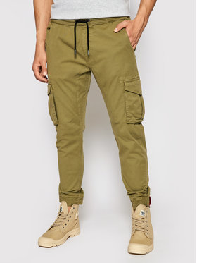 Alpha Industries Alpha Industries Joggers kalhoty 116202 Zelená Tapered Fit