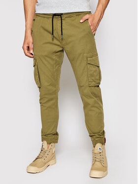Alpha Industries Alpha Industries Joggery 116202 Zielony Tapered Fit