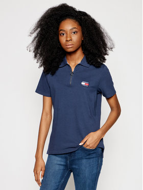 Tommy Jeans Tommy Jeans Polo Badge DW0DW09146 Granatowy Regular Fit