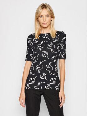 Lauren Ralph Lauren Lauren Ralph Lauren T-Shirt Elb 200817464001 Schwarz Regular Fit