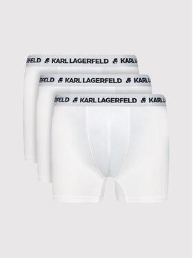 KARL LAGERFELD KARL LAGERFELD Комплект 3 чифта боксерки Logo Trunks 211M2102 Бял