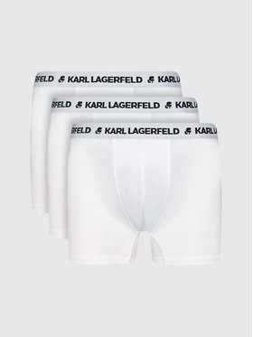 KARL LAGERFELD KARL LAGERFELD Set 3 perechi de boxeri Logo Trunks 211M2102 Alb