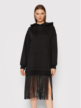 TWINSET TWINSET Sukienka dzianinowa 212TT201A Czarny Regular Fit