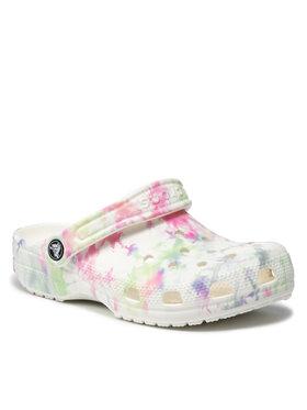 Crocs Crocs Mules / sandales de bain Classic Bleach Dye Clog 207326 Blanc