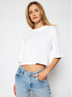 Pepe Jeans Pepe Jeans T-Shirt Miriam PL504857 Biały Relaxed Fit